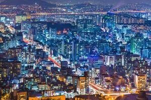 seoul, sydkorea skyline foto