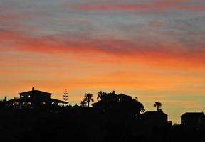 solnedgång, Quesada, Spanien foto