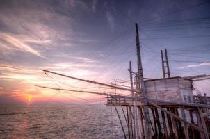 trabuccco vid solnedgången foto