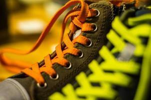 färgade skor foto