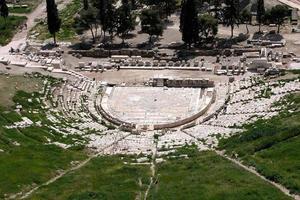 grekiska antika teatern i Dionysus foto