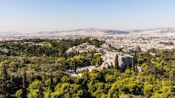 panorama över Aten foto