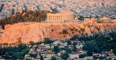 grekisk akropolis foto