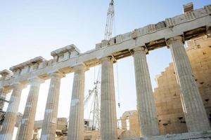 återuppbyggnad och bevarande av parthenon foto