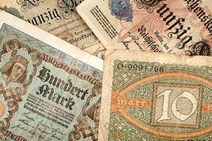 gamla tyska pengar foto