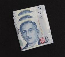 singapore dollar pengar sedel foto