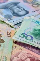 kinesiska yuan sedlar (renminbi) för pengar och affärsförmåga foto
