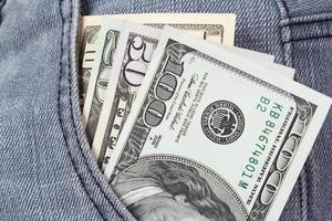 pengar i en ficka foto