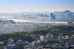 seoul city och hanriver, Sydkorea foto