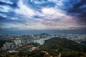 solnedgång över seoul