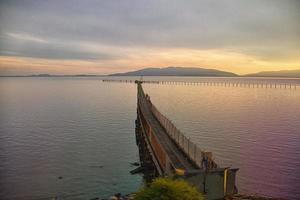 seattle-canada tågvy wharf foto