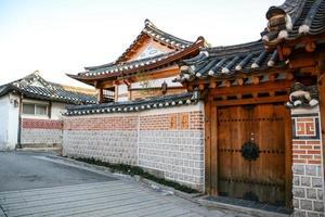 bukchon hanok by i Seoul, Sydkorea foto