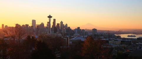 höstmorgon i Seattle foto