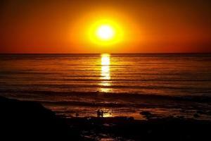 la jolla solnedgång foto