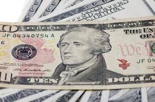 tio dollar i USA foto