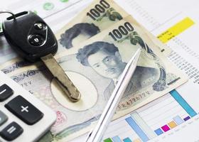 japan valuta för finansiella koncept foto