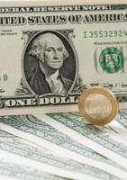 europeiska och oss amerikanska pengar foto
