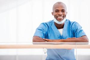 glada läkare. foto