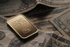 guld på dollar foto
