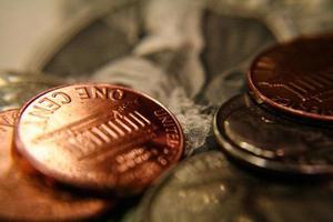 närbild på oss pengar foto