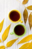 två koppar te