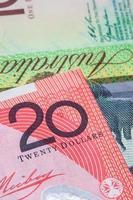 australisk 20 dollar (20 dollar) sedel foto