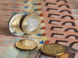 en och två euro foto