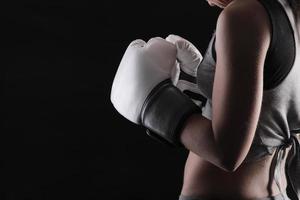 kvinna boxning foto