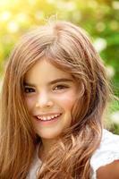 bedårande liten flicka