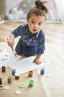 nu målar jag min drömsemester foto