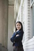 asiatisk skolflicka foto