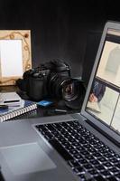 fotograf skrivbord foto