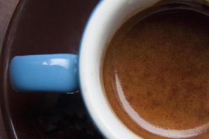 närbild espresso foto