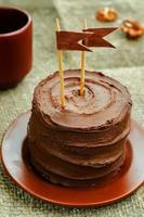 choklad födelsedagstårta foto
