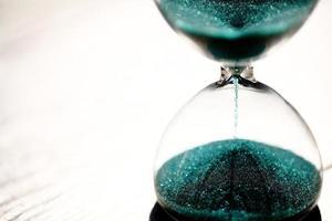 timglas närbild foto