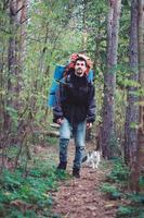 vandrare med katt foto