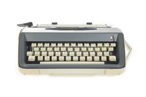 skrivmaskin på nära håll foto
