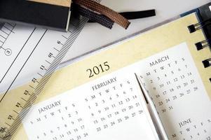 närbild kalender foto