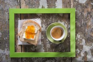 italiensk frukost foto