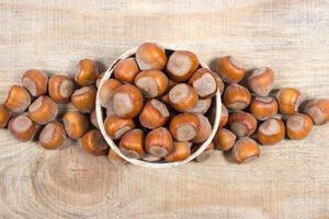 hasselnötter på nära håll. foto