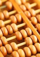 gamla abacus på nära håll foto