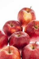 röda äpplen, närbild foto