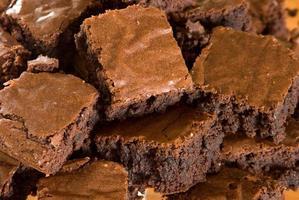 brownies på nära håll foto