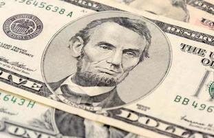 kontant dollar närbild foto