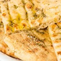 grekisk pitabröd närbild foto