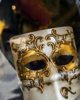 venetiansk mask närbild foto