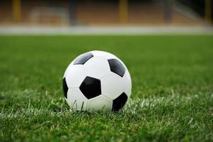 närbild fotboll foto
