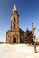 Katolsk kyrka. närbild foto