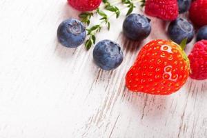 närbild av jordgubbar foto