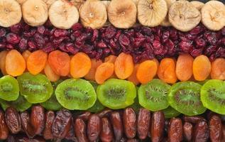torkade frukter på nära håll foto
